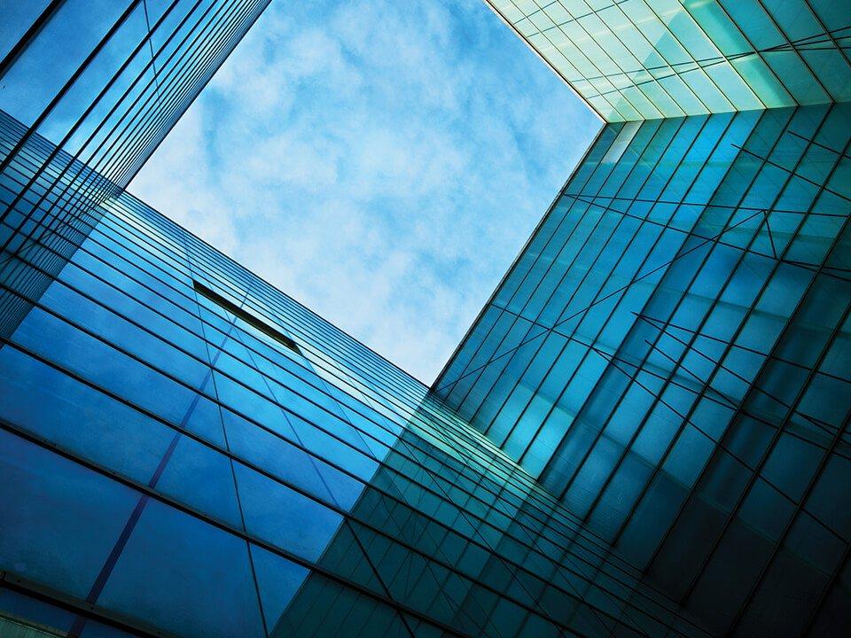glass clad walls